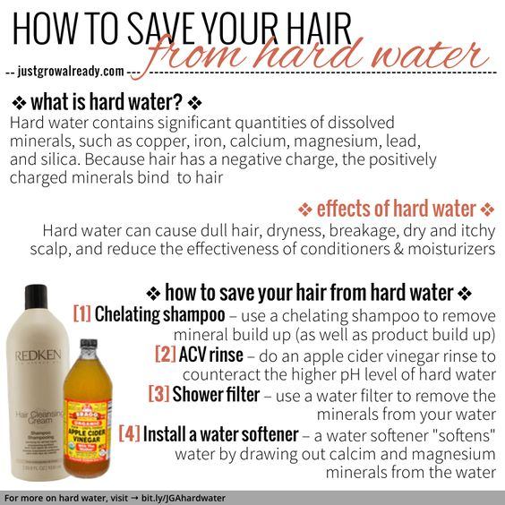 How to save your hair from hard water   Just Grow Already!