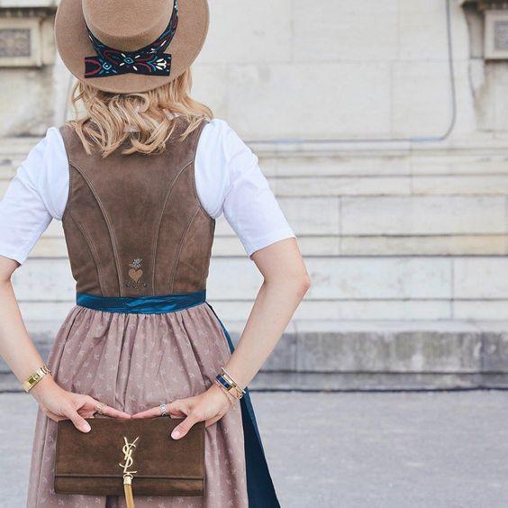 Fashion meets Tracht: Bloggerin Viky & the Kid zeigt wie sich scheinbar gegensätzliche Stilrichtungen trendsicher miteinander verbinden lassen.  Shop the Looks!