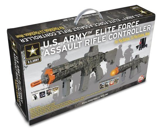 U.S Army Elite Force Assault Rifle Sharp AK Gun Controller PlayStation3 PS3 Move #CTADigital