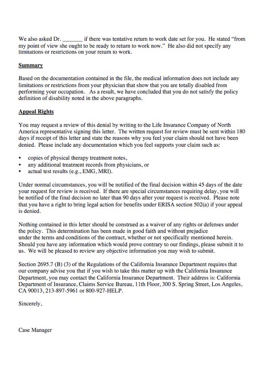 sample ltd claim denial letter http resumesdesign com sample