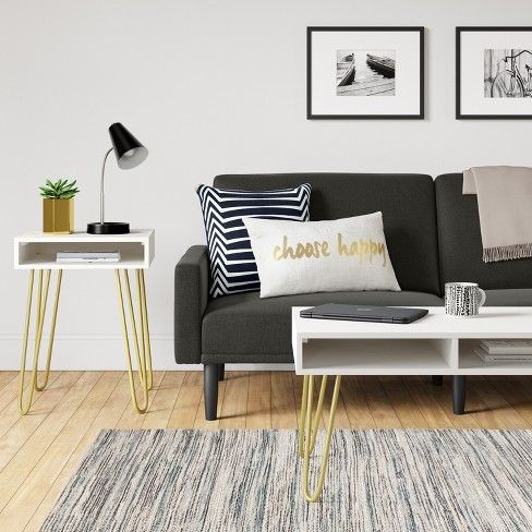 Futon With Arms Room Essentials Living Room Decor On A Budget Living Room White Room Essentials