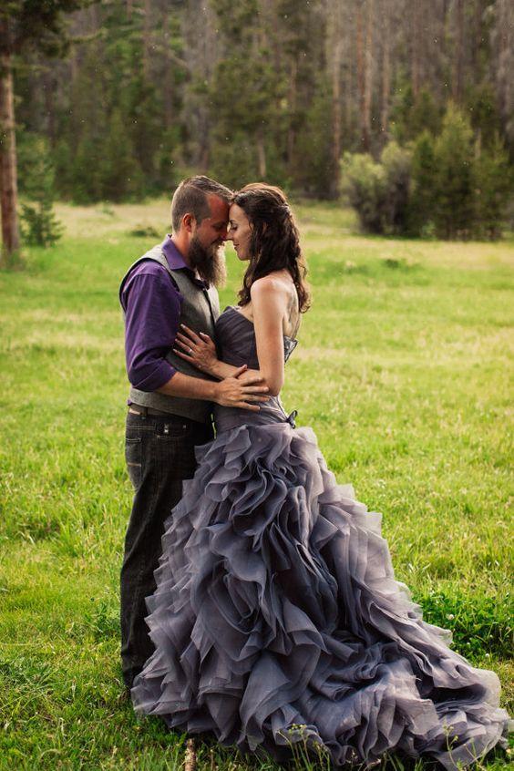 Gray Wedding Dress Sweetheart Neckline by Wedding Dress Fantasy