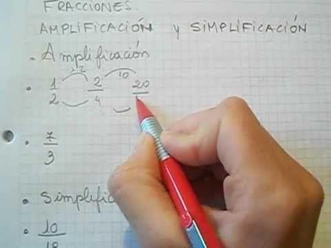 Fracciones Amplificacion Y Simplificación Mica Fracciones Material Didactico Para Matematicas Amplificacion De Fracciones