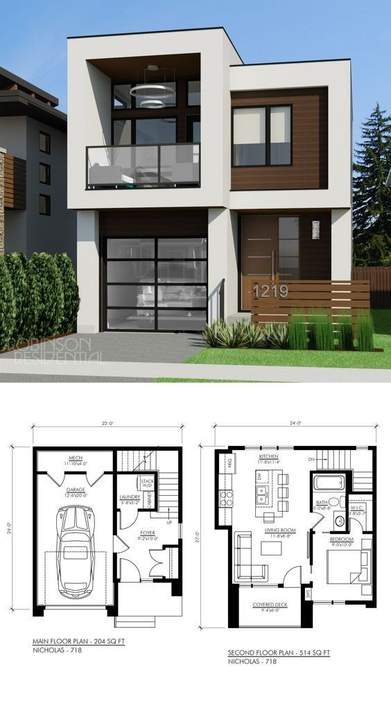 Modern House Designs One Floor 18 Small House Designs With Floor Plans House And Decors Contemporary House Plans House Designs Exterior Minimalist House Design