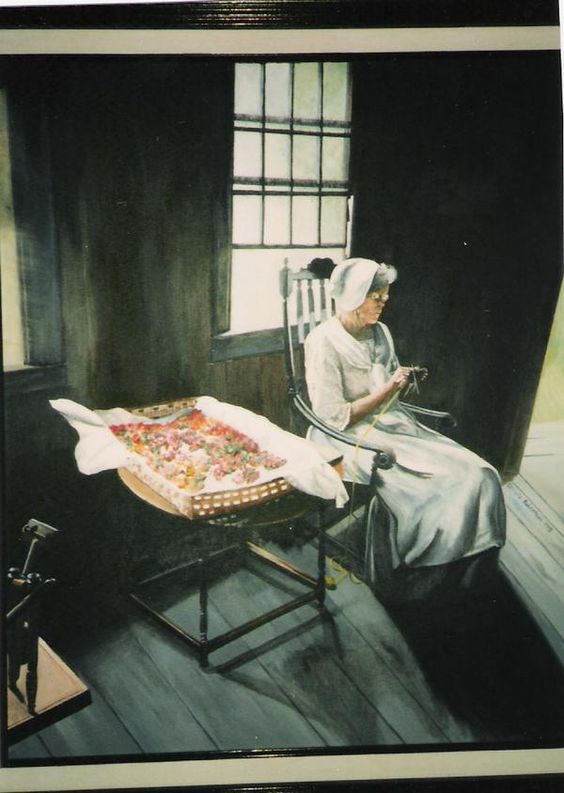 Old woman at Henry Ford Museum MI- acrylic