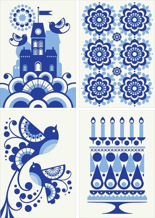 Fun pattern illustrations.: