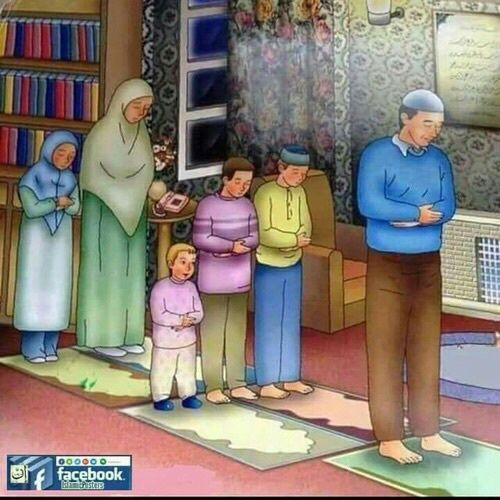 The closer you get to Allah The closer you get to each other.   A family that prays together, stays together.