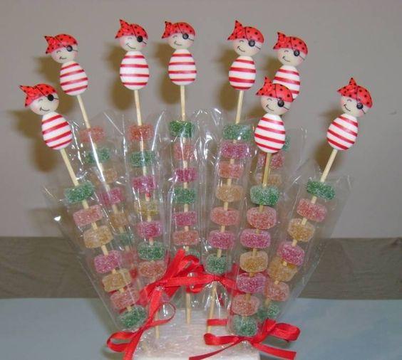 Arbolitos topiarios de golosinas souvenirs centros de mesa - Como hacer centros de mesa con dulces para bautizo ...