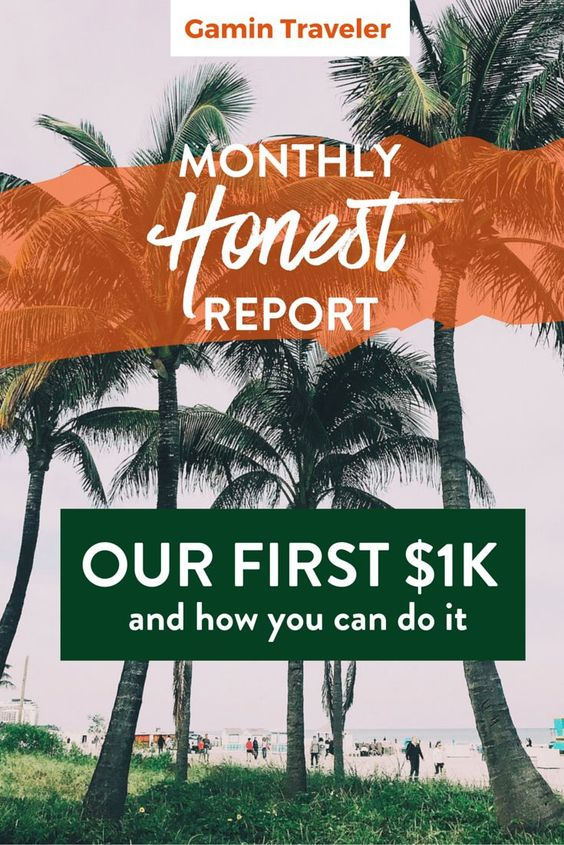 Our first income with the blog. Read here how you can earn money with your blog. Monthly Report 3: Our first $1k And How you can do it