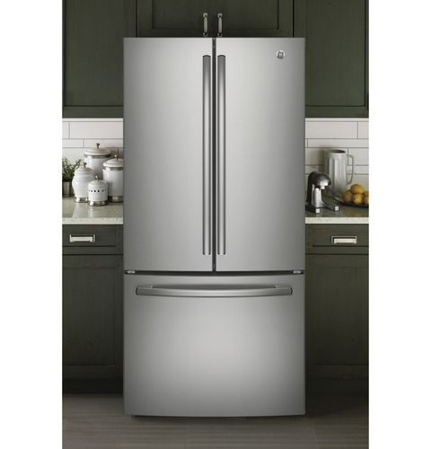 Ge 18 6 Cu Ft Energy Star Counter Depth French Door Refrigerator With Turbo Cool And Turbo Freeze French Door Refrigerator French Doors Stainless Steel Refrigerator