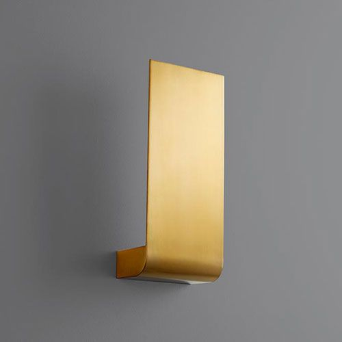 Oxygen Lighting 3 535 40 Halo Five In Led 120v Sconce In Aged Brass Contemporary Modern Bellacor In 2020 Led Wall Sconce Sconces Wall Sconces