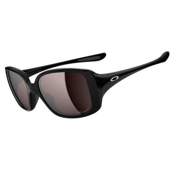 oakley dangerous sunglasses womens  oakley women's l b d sunglasses polished black / oo black iridium polarized lens oo9193 05
