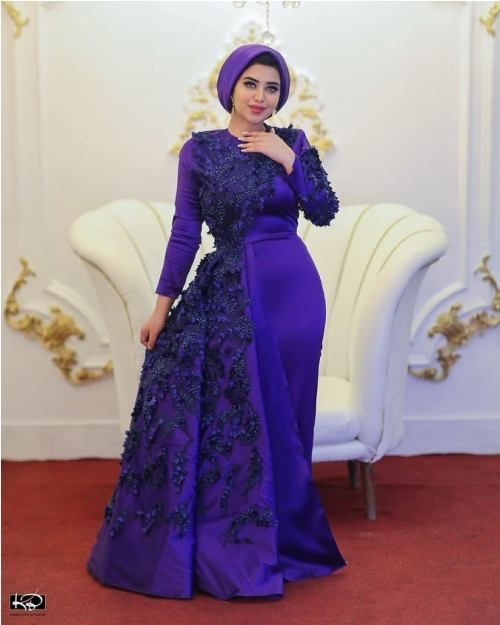 Puffy Soiree Hijab Dresses Soiree Dress Couture Evening Dress Hijab Dress Party