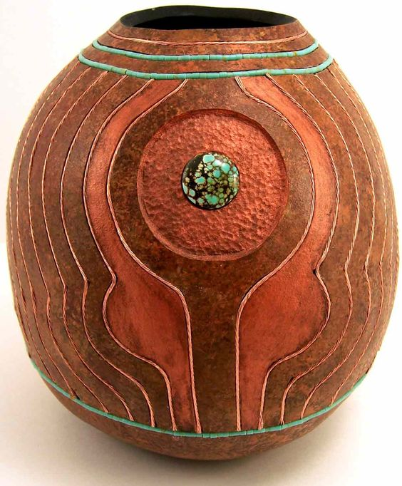 Group southwest gourds and gourd craft