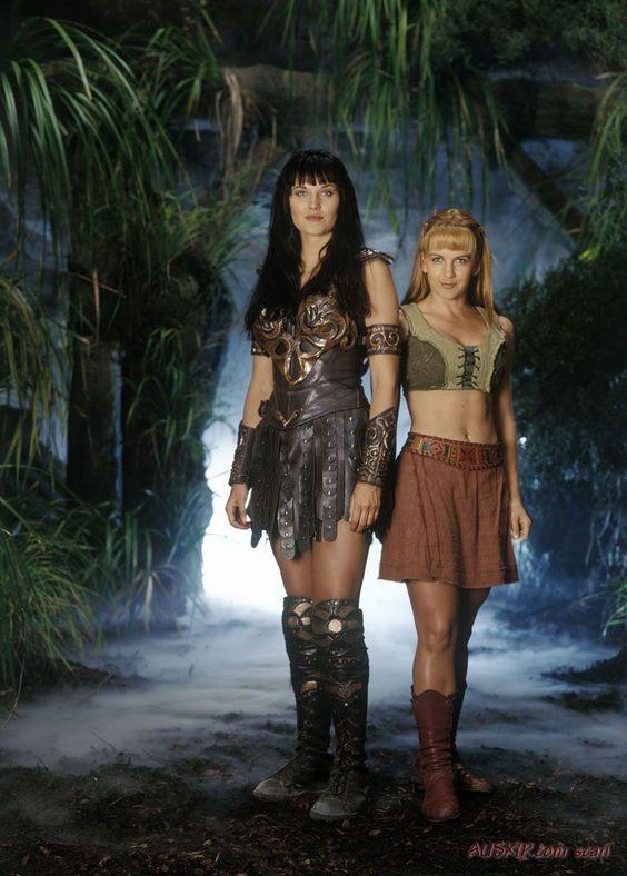 Xena la princesa guerrera -Xena (Lucy Lawless) y Gabrielle (Renée O'Connor)