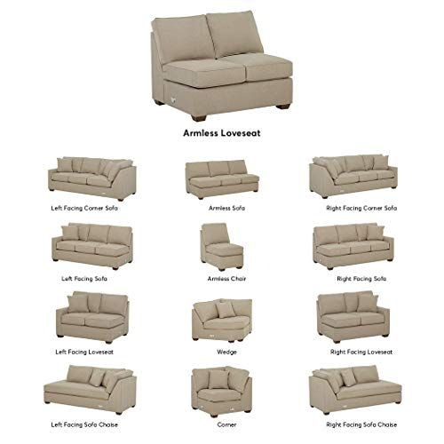 Stone Beam Bagley Sectional Component Armless Loveseat Fabric