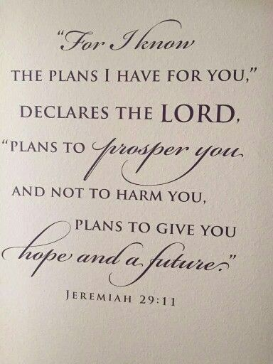 God's plans for my life