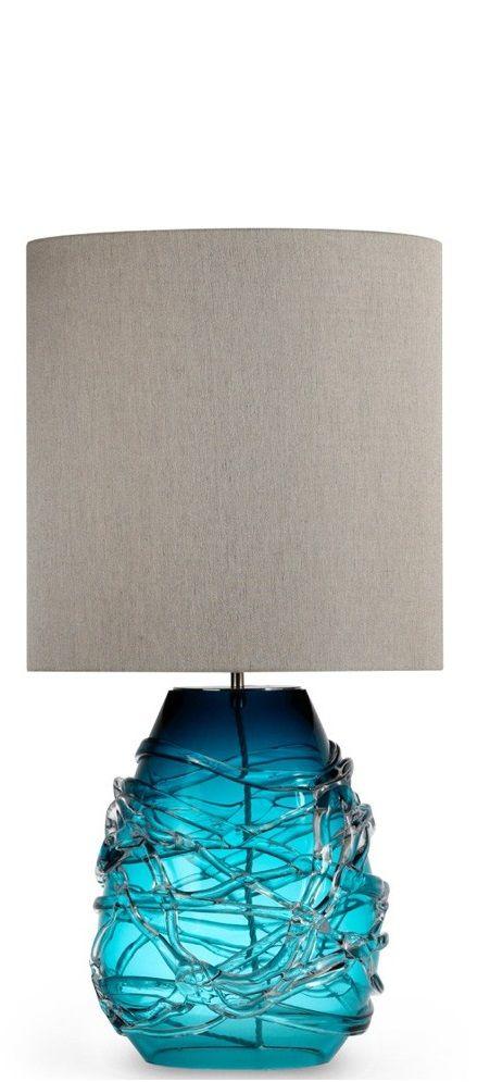 Blue, Blue Table Lamp, Blue Glass Table Lamp, Blue Lamp