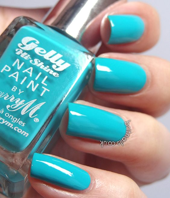 Brit Nails: Barry M Gelly Nail Paint Summer 2013 Collection -guava