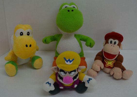 Mario Green & Yellow Diddy Kong Yoshi Plush Super Mario Bros Nintendo Lot 4 #BDAGoldieMarketing http://stores.ebay.com/Lost-Loves-Toy-Chest/_i.html?image2.x=0&image2.y=0&_nkw=nintendo