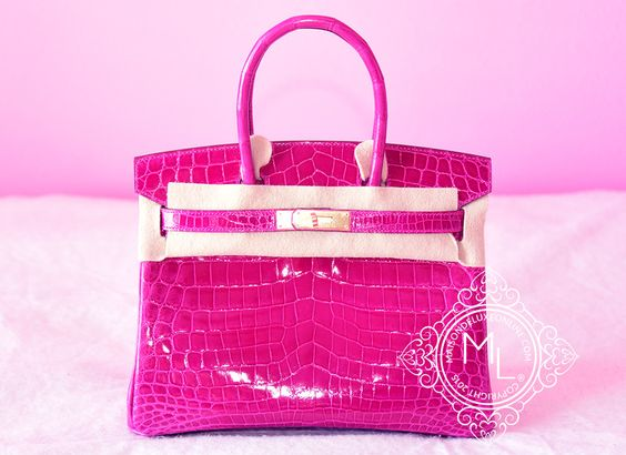 herme bags - Hermes Rose Scheherazade Hot Pink GHW Crocodile Birkin 30 Handbag ...