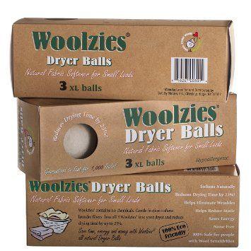 Amazon.com: Woolzies 3 XL Wool Dryer Balls ,Natural Fabric Softener: Baby