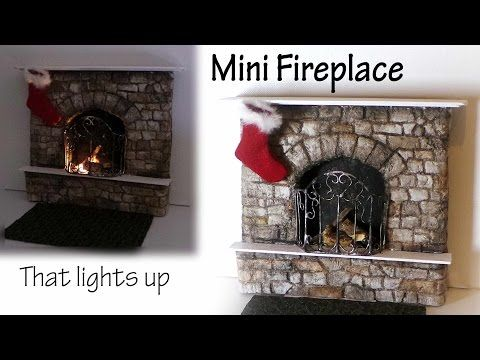 Miniature Fireplace Tutorial - Polymer Clay & Mixed Media - YouTube