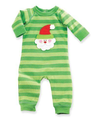 Mud Pie Unisex-Baby Newborn Santa One Piece
