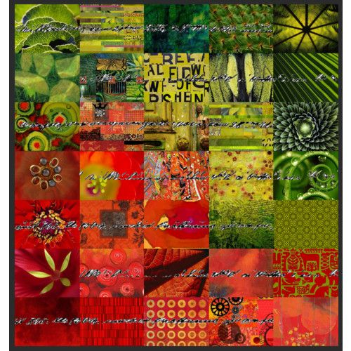 collage #quilt #red #green #collage