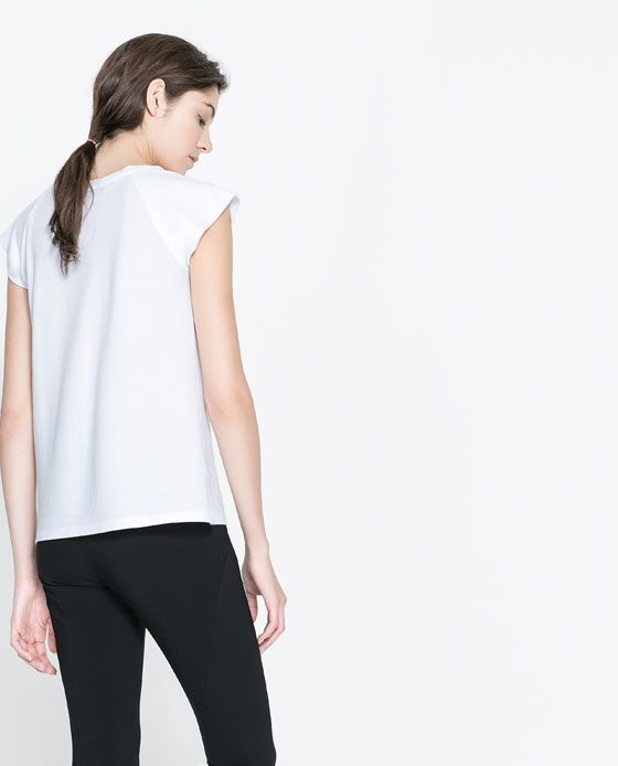 COTTON T-SHIRT from Zara