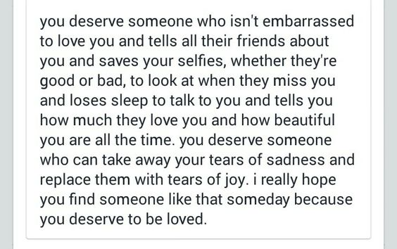You deserve happiness...