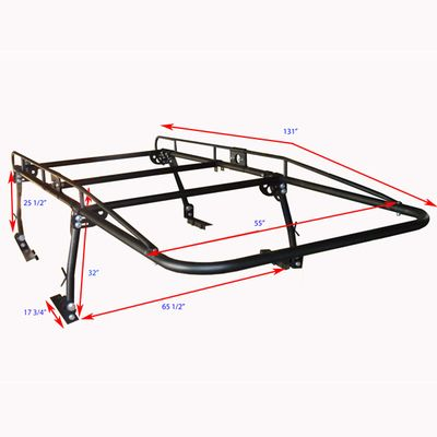 Ladder Roof Rack for Pick Up Truck: Contractor Rack 800lb Weight Limit