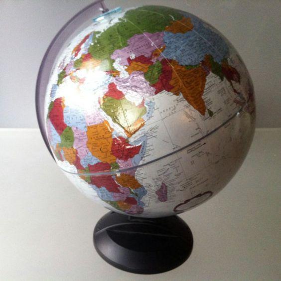 Platinum Replogle 12 World Globe  Platinum by SeventhandMain, $145.00