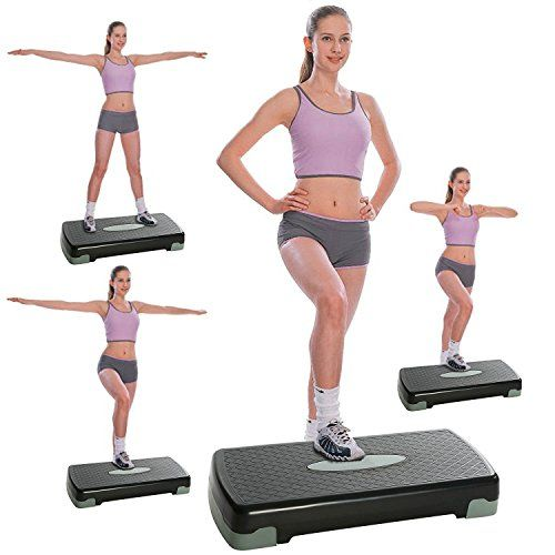 Mirafit Deluxe 108cm Aerobic Gym Step Platform Board//Exercise//Ab Fitness Stepper