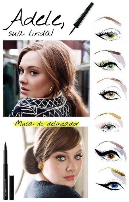 love her eye makeup: Eyeliner Styles, Eyeliner Inspiration, Eyeliner Makeup, Cat Eye Trick, Adele S Eye, Adele Makeup Eyeliner, Eye Liner, Adele Eyeliner Tutorial, Cat Eye Eyeliner