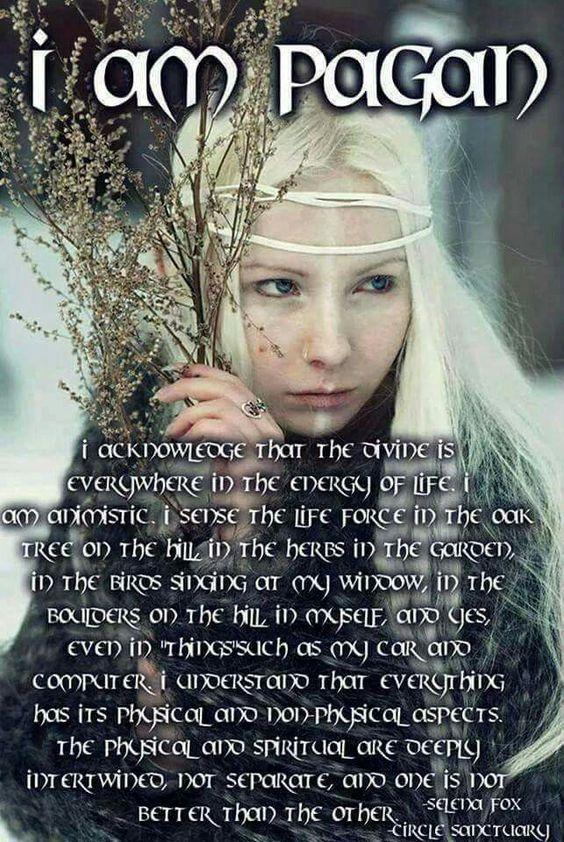 I am Pagan.....