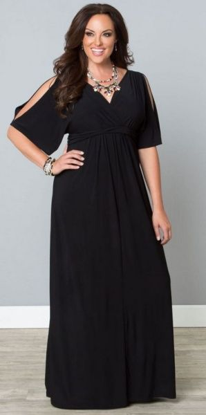 Нарядные платья для полных девушек и женщин - фото