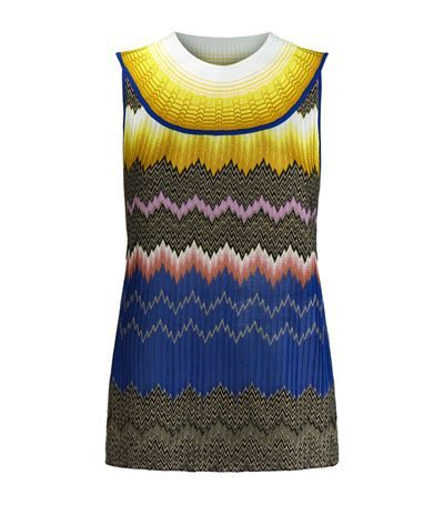 MISSONI Zig Zag Sleeveless Top. #missoni #cloth #