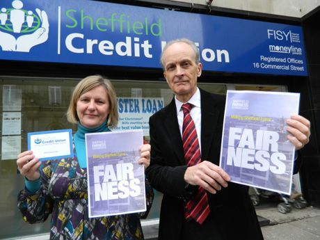 Launching the report: Sheffield's council leader Julie Dore and Professor Alan Walker from Sheffield University.