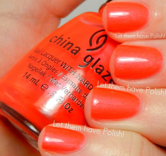 Surfin For Boys ~ 2012 Summer Neons Collection (http://www.letthemhavepolish.com/2012/06/china-glaze-summer-neons-2012-swactches.html)