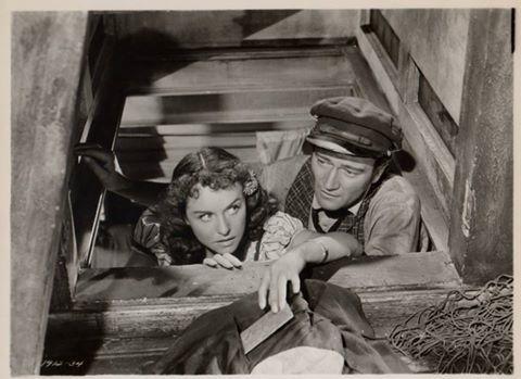 Paulette Goddard and John Wayne Reap the Wild Wind 1942