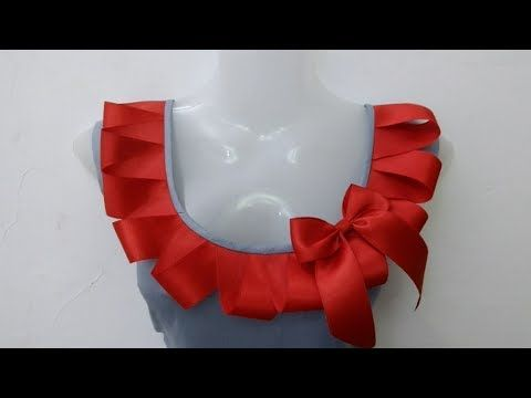 Red Ribbon Neck Design Rup Fashion Point Youtube Neck Designs Ribbon Design Dress Neck Designs