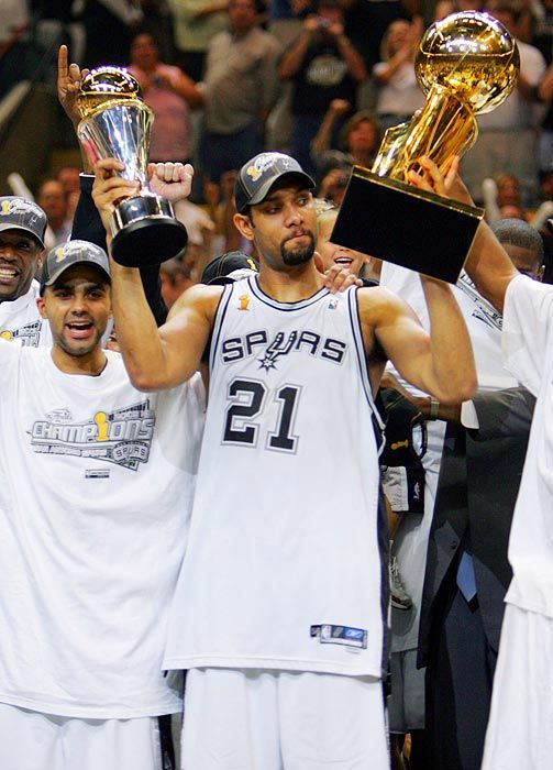 When did the Spurs win NBA titles?