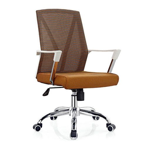 Cheap Mid Back Metal Office Chair Ergonomic Computer Swivel Chairs In Foshan