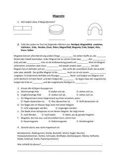 Magnetismus Grundschule Magnetismus Sachkunde Grundschule