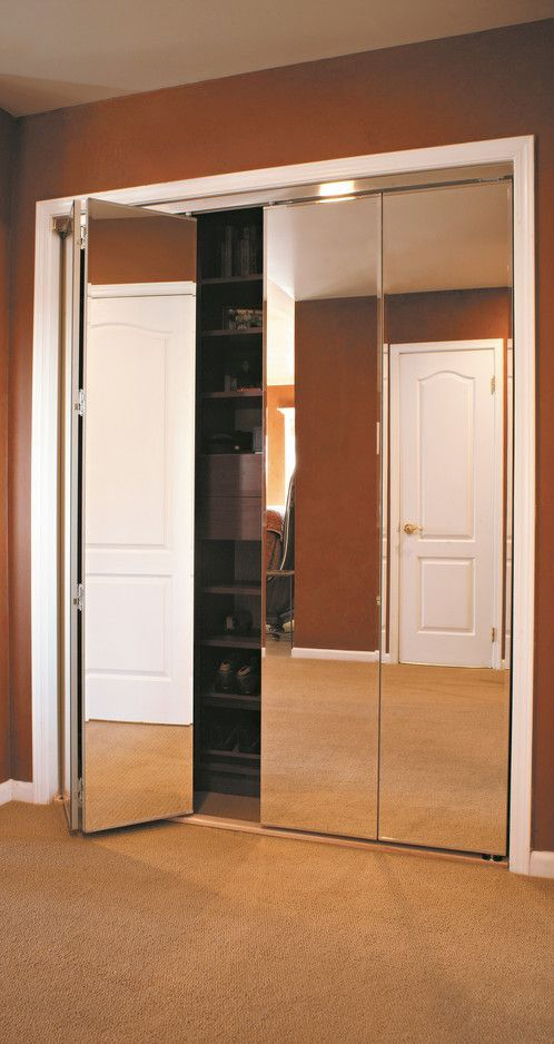 Mirror Bifold Doors Bifold Closet Doors Mirrored Bifold Closet