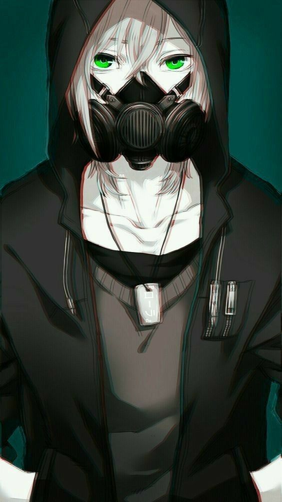 Ilustrasi Orang Pakai Masker Dark Anime Anime Guys Cute Anime Guys