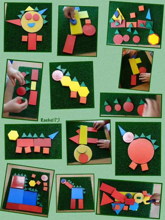"Dinosaur pictures and other shape creations from Rachel ("",)"