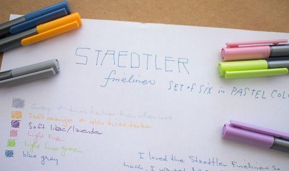 Staedtler Fineliner Pastel Set