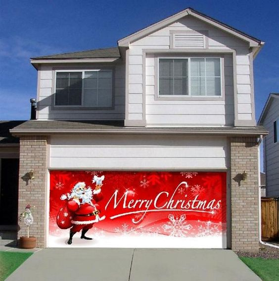 Christmas Garage Door Cover Contact The Overhead